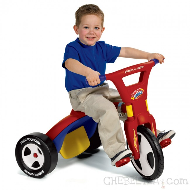 Otrok na trikolesniku